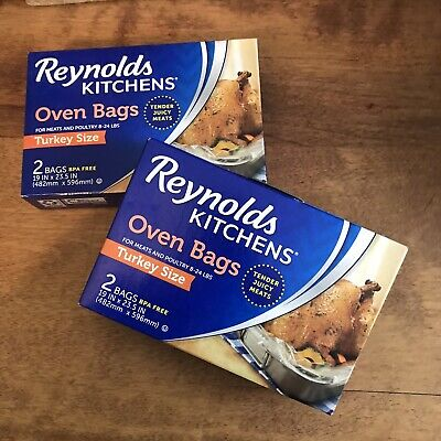 VINTAGE (1980) BOX Of Reynolds Oven Cooking Bags 5 Bags