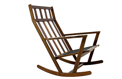 Teak Rocking Chair by Poul Volther for Frem Rojle Denmark 60s Rocking Chair