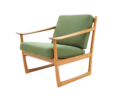 Peter Hvidt & Orla Molgaard Nielsen Teak Lounge Chair Fd 130 France & Son 60s