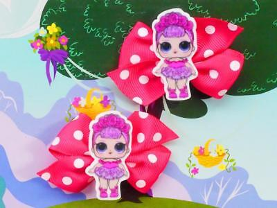 LOL Surprise Sugar Queen Inspired Handmade Hair Clips Dress Up Glitter Doll Toy