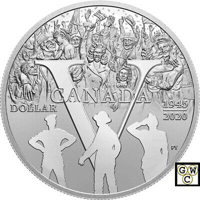2020 Proof Silver $1 Coin '75th Anniversary of VE-Day' .9999 Fine (18886) (NT)