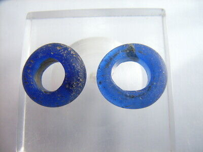 2 Ancient Celtic Glass Beads, Celts VERY RARE!  TOP !!