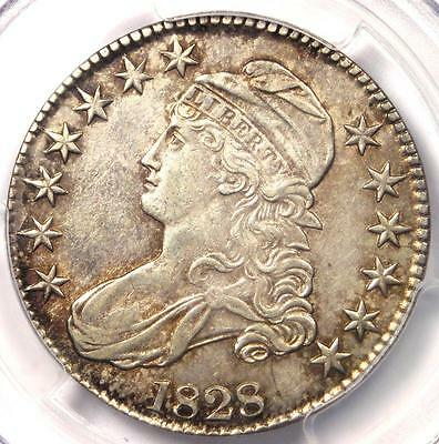 1828 Capped Bust Half Dollar 50C - PCGS AU55 - Rare Certified Coin - $775 Value