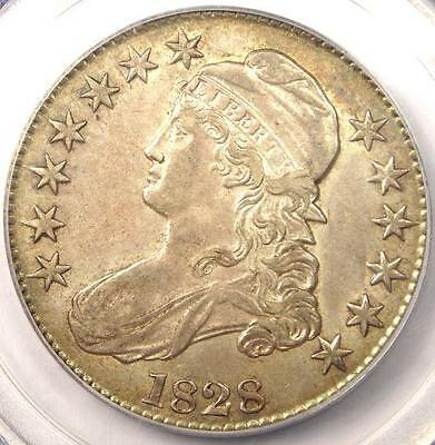 1828 Capped Bust Half Dollar 50C - PCGS AU55 - Rare Certified Coin!