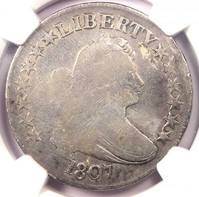 1807 Draped Bust Half Dollar 50C - NGC VG Details - Rare Certified Coin!