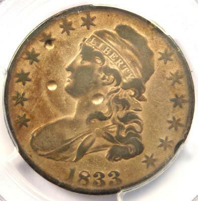 1833 Capped Bust Half Dollar 50C O-115 R5 - PCGS VF Details - Rarity 5 Variety!