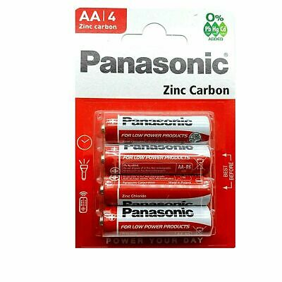 GENUINE & NEW Panasonic AA / AAA Batteries Zinc Carbon Pack Of 4