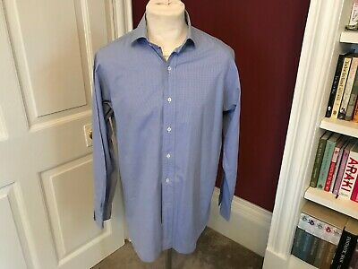 POLO RALPH LAUREN Mens Shirt Size 15.5/ 34  small Check Classic Fit Regent
