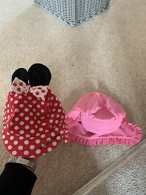 2 Baby Girl Uv Sun Hats Age 3-9 Next And 6-12 Months. Next And Disney Store