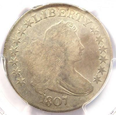 1807 Draped Bust Half Dollar 50C Coin O-106 - Certified PCGS Fine Details!