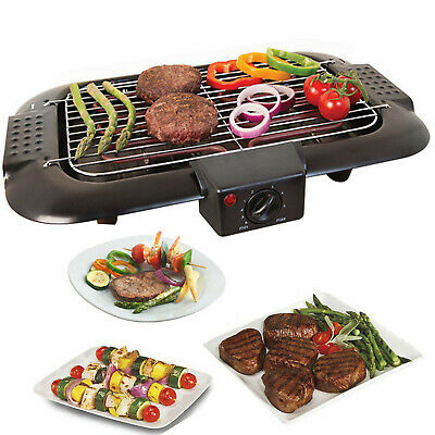 Electric Table Top Grill BBQ Barbecue Garden Camping cooking 2000W Indoor or out
