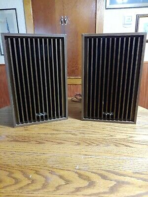 "Vintage  Panasonic 8840 House Speakers. 17 3/4"" Tall"