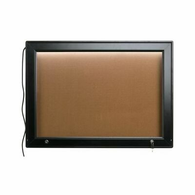 """Displays2Go By Plasticrafters ODMBIL3121 Enclosed 36"""" x 26"""" Cork Board"""