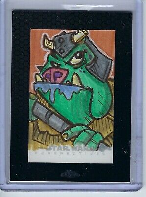 2014 Star Wars Chrome Perspectives Gammorean Guard Sketch Card 1 of 1 1/1