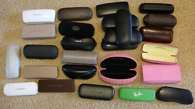 Oakley, Ray-Ban Designer Eyeglasses Sunglasses CASES Lot of 28 Very Nice Ones