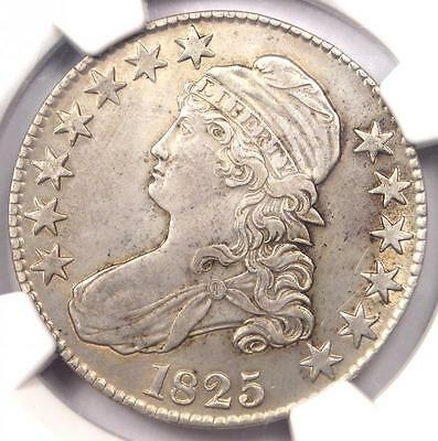 1825 Capped Bust Half Dollar 50C O-113 - NGC AU Details - Rare Certified Coin!