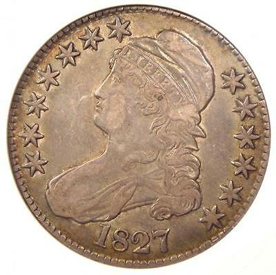 1827 Capped Bust Half Dollar 50C - Certified ANACS XF45 (EF45) - Nice Coin!