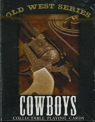 """Old West Series """"Cowboys""""  Playing Cards ~ Poker Deck ~ New Sealed"""