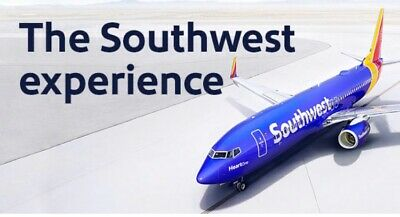 $200 Southwest Airlines LUV Travel Voucher Certificate Expires 03/10/2020
