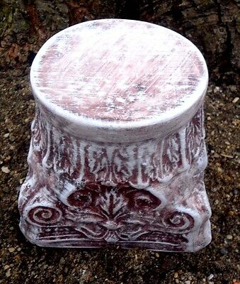 "Riser pedestal mold short birdbath stand mould 6""H x 7""W x 5"" across top"