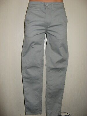 Worn Once Boys Mens Pale Grey Stretch Skinny Chino Jeans Age 14-15 30 Waist 30L