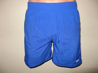 Worn Once Boys Royal Blue Speedo Beach Pool Shorts Age 10-11 Approx 24/26 Waist