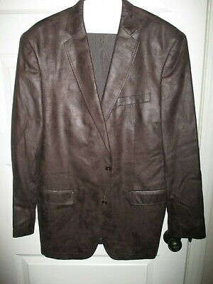 Calvin Klein Mens Blazer.Sport Coat Chocolate Brown. Size 42. R Cotton
