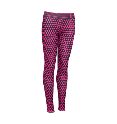"New Under Armour ""Armourprint"" Girls Leggings  Age 11 -14 Black Pink  gym sport"