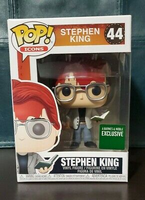 🔥Funko POP! Icons: STEPHEN KING (Bloody) #44 ⚡FAST 2-3 DAY FREE SHIPPING⚡New!