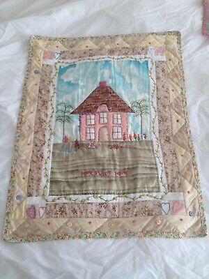 Handmade Applique & Hand Embroidered Wallhanging 51 cm x 67 cm EUC