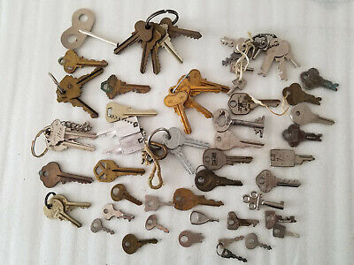Lot Of 60 Vintage Keys Lock Padlock Trunk Cabinet Suitcase Mixed Wholesale