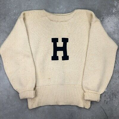 Vintage 1920s Knit Sweater Harvard Princeton Award Knitting Masters