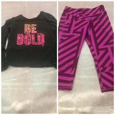 Old navy active  Leggings girls  size large With Shirt Lot 2