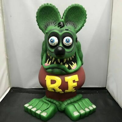 Green Rat Fink 33CM Movie Gift Ed Roth Big Daddy Garage Kit Rare Action Figure
