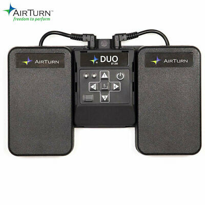 Airturn DUO Dual wireless pedal controller with removable Bluetooth handheld rem