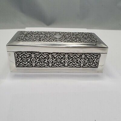 Oomersi Mawji Dose / Box Indian Colonial Silver ca. 1890 / Dose Indien Silber