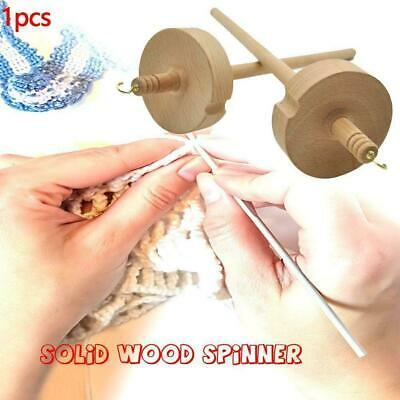 Beginners Drop Spindle Top Whorl Yarn Spin Hand Carved Quality Wooden High T2X3
