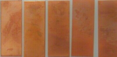 "10 Pieces Copper Metal Enameling Blanks 3/4"" x 2"" Rectangle Arts Crafts Hobby"