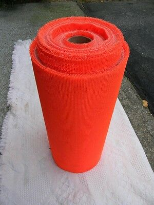 Large Roll Of Fluorescent Orange Survey Flagging Material Plastic Mesh Fabric