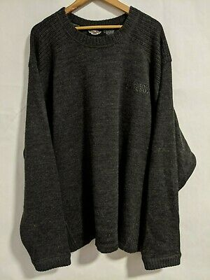 Harley Davidson Wool Acrylic Blend Sweater Embroidered Logo Spell Out Mens 3XL