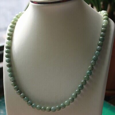 100% Natural Untreated (Type A) Jade Jadeite Beautiful Oily Green Necklace #N287