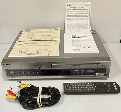 SONY DVD VCR Combo Player SLV-D100 + REMOTE + CABLES + Manuals - WORKS