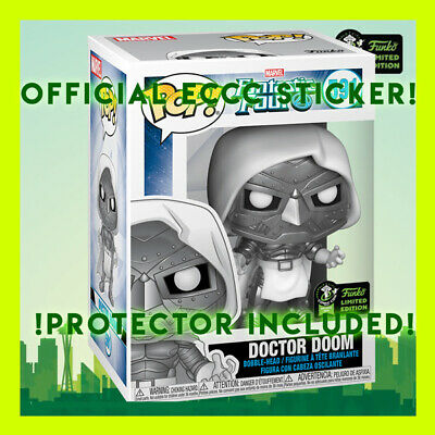 Doctor Dr Doom Marvel Funko Pop 2020 Eccc Official Con Sticker + Protector