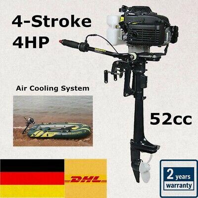 4 Stroke 4HP Outboard Motor Fishing Rubber Boat Engine+CDI Air Cooling System FR
