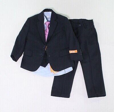 Joey Couture Baby Boys Suits Deep Blue USA Size 2T 5-Piece Notched-Lapel $80 005