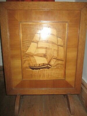 1940's Vintage Marquetry Fire Screen