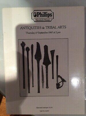 Tribal Art And Antiquities Phillips 1987 Art Catalogue Antique