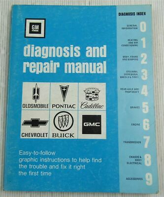 Cadillac Pontiac Chevrolet Buick Oldsmobile Diagnosis Repair Manual 1977 GMDR