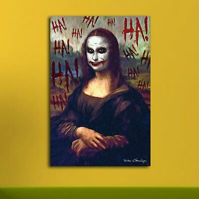 Smile of The -joker HD Canvas prints Painting Home decor Picture Wall art Poster