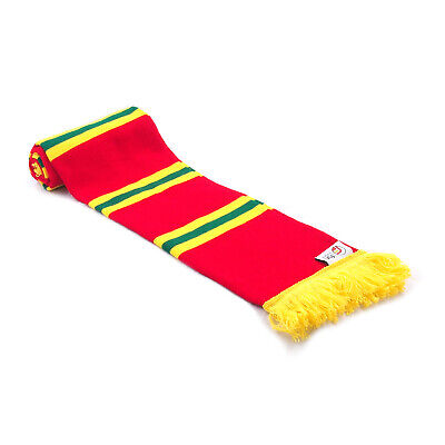 fan originals Retro Football Bar Scarf in Wales Colours Red Yellow Green